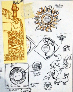 Ketubah Thumbnail Sketches by the ketubah artist