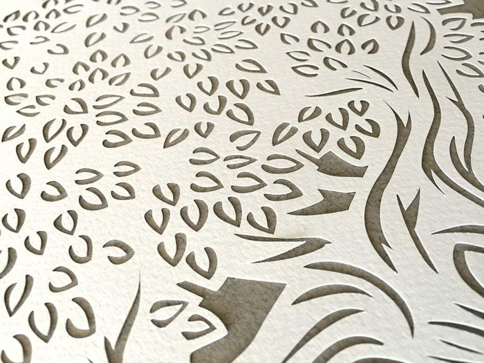 Ketubah with tree and arabesque mid gray 4