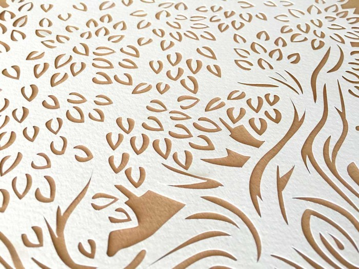 Ketubah with tree and arabesque sienna 6