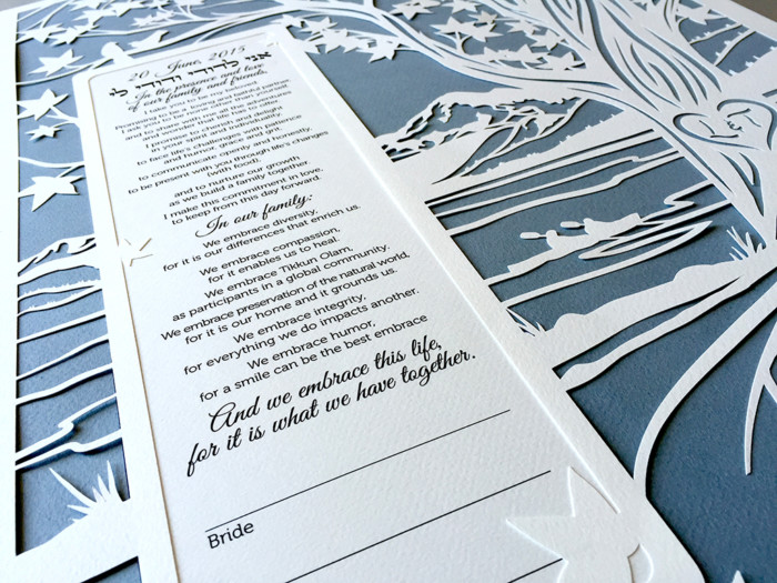 ketubah - mountain and lake view 2