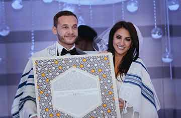 The moment after the ketubah is signed