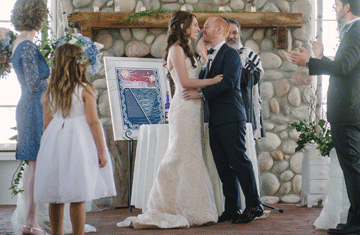 A beautiful ketubah is the cornerstone of a Jewish wedding